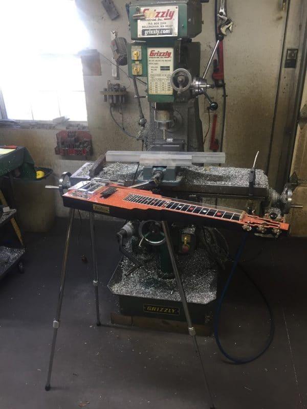 lap steel with legs