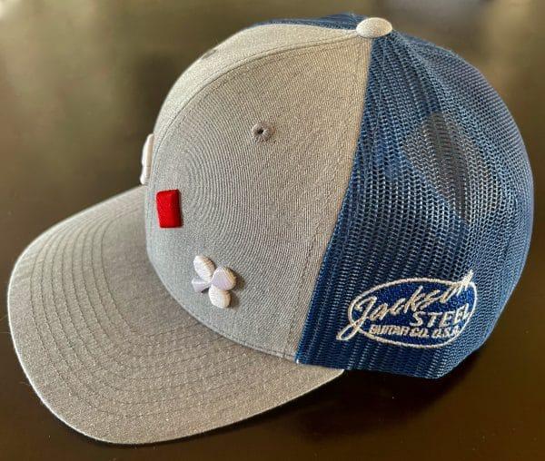 Grey and Blue Trucker Cap