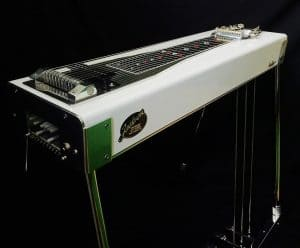 White Pedal Steel Guitar