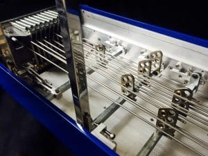 Undercarriage of Pedal Steel Guitar