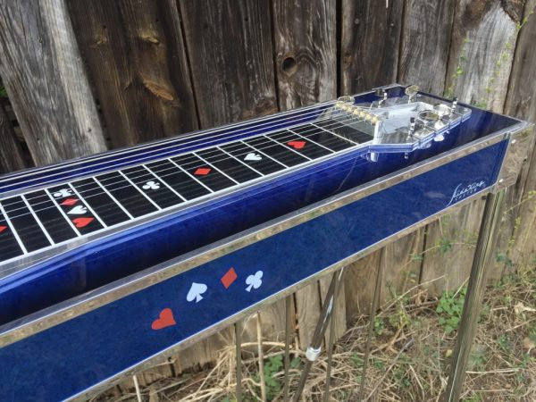 Stand and play steel guitar