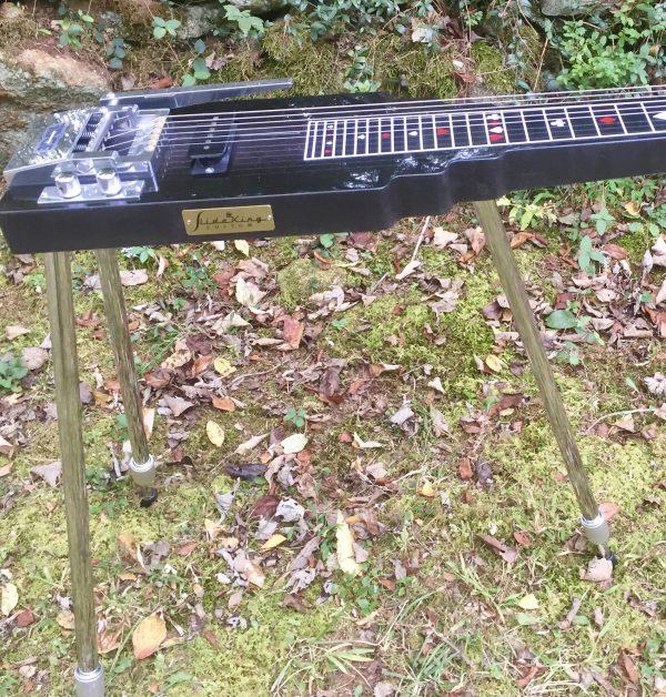 Black lap steel guitar