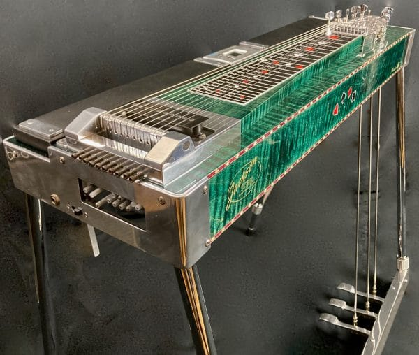 Green Pedal Steel Guitar